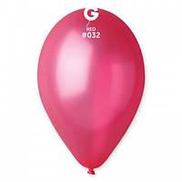"""12"""" (30 см) металлик светло-красный Gemar Италия G-32 латексный шар"""