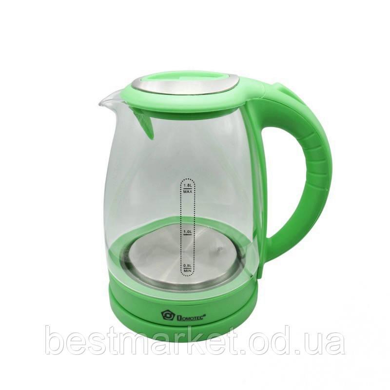 Электрочайник Domotec MS-8112 Green 1,8 л