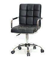 Кресло для мастера, офиса Augusto ARM ЭКО, черный