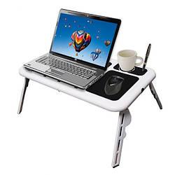 Столик-подставка охлаждающий для ноутбука E-Table LD-09 Подставка кулер под ноутбук с вентилятором в кровать