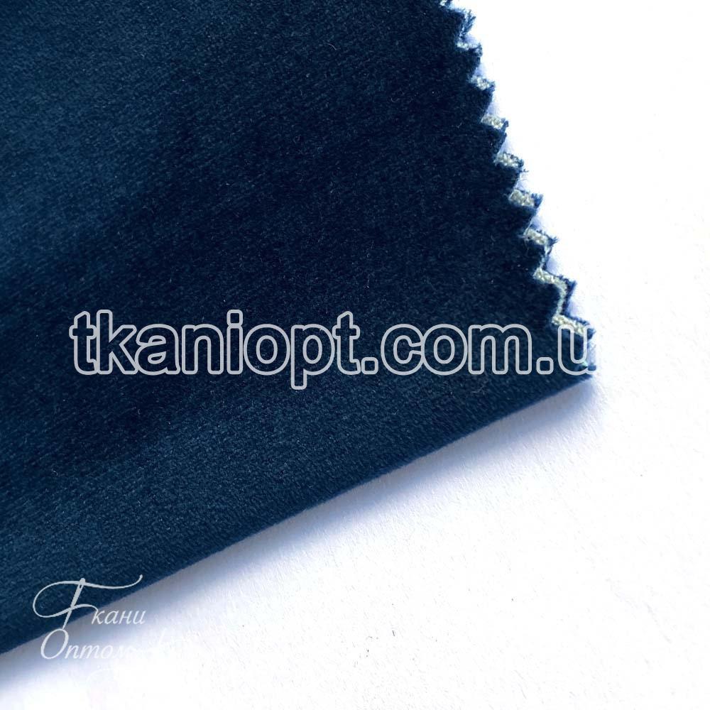 Ткань Велюр плотный на тканевой основе florida (темная морская волна)