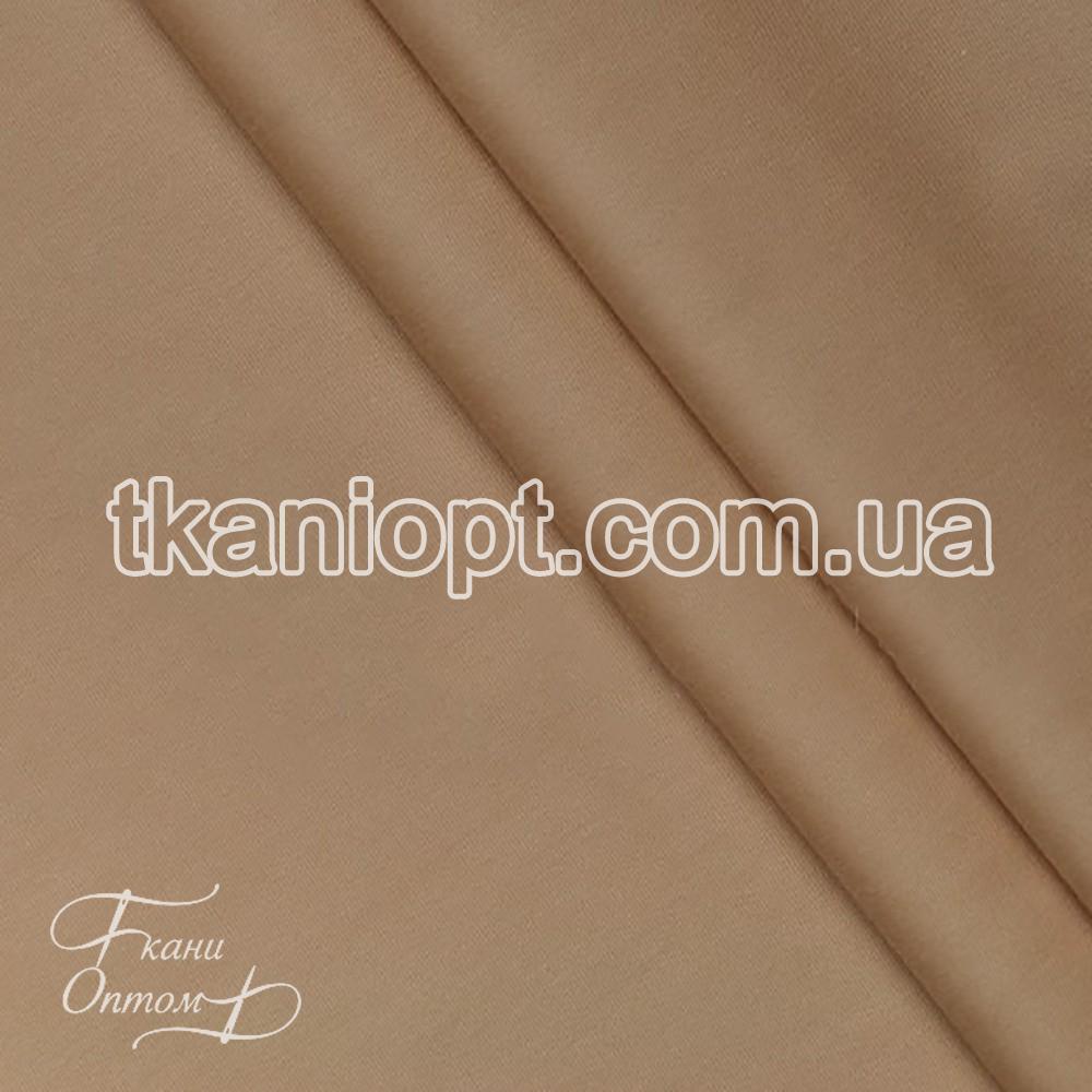 Ткань Сатин хлопок однотонный (бежево-розовый)