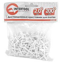 Набір дистанційних хрестиків для плитки 2,0 мм / 200 шт INTERTOOL HT-0351