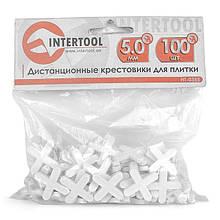 Набір дистанційних хрестиків для плитки 5,0 мм / 100 шт INTERTOOL HT-0355