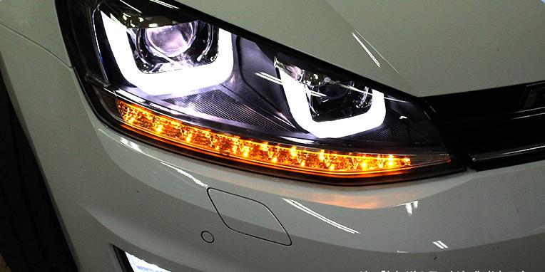 Передние фары для Volkswagen Golf 7, фото 2