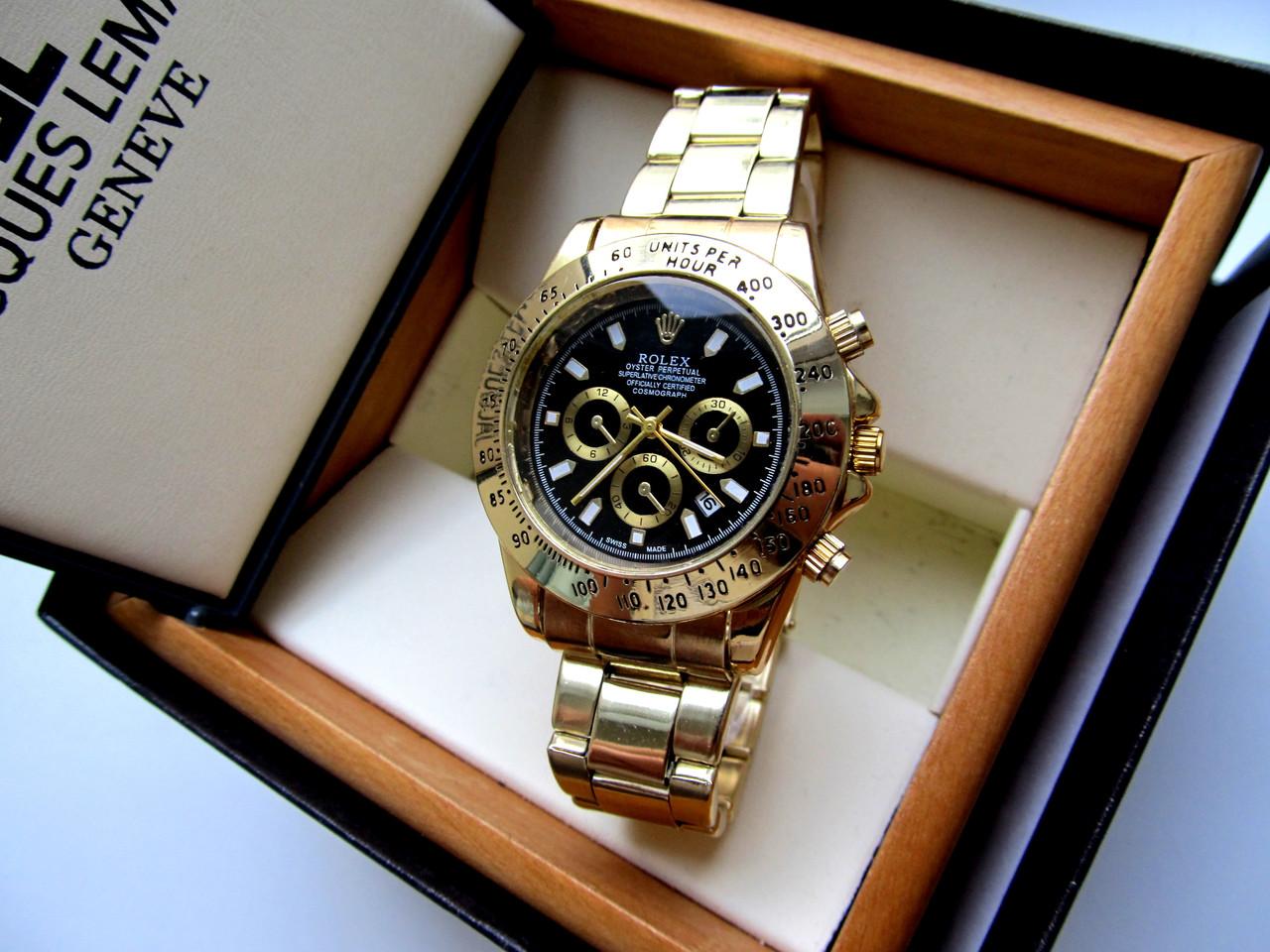 7a1f18fabca7 Мужские наручные часы Rolex Daytona черное золото, часы физрука ...