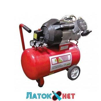 Компрессор 50л 8атм 420л/мин 220В PT-0007 Intertool 3кВт 4HP 2 цилиндра