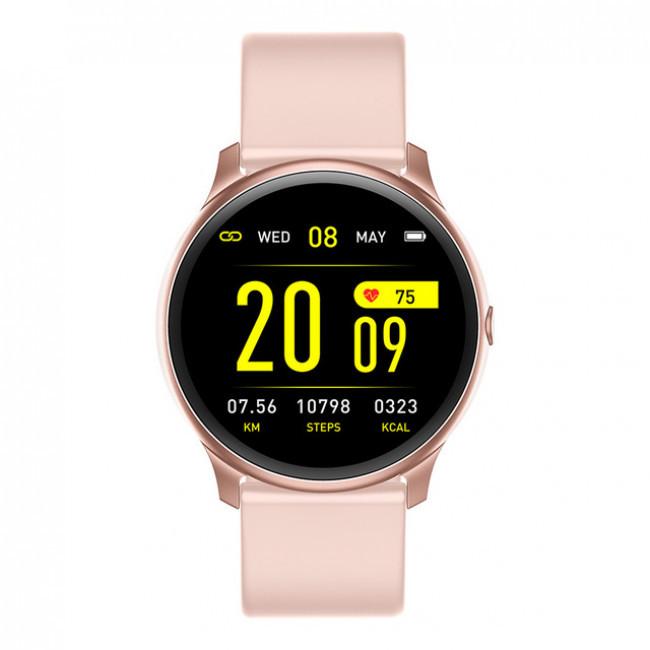 Смарт-часы KingWear KW19 c измерением давления и фитнес трекером (Pink)