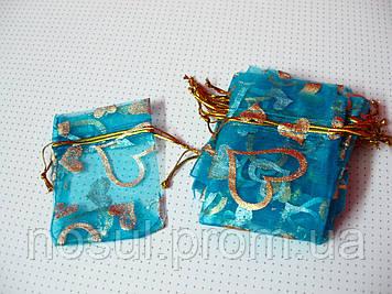 Упаковка подарочная, мешочки из органзы 5см х 7см