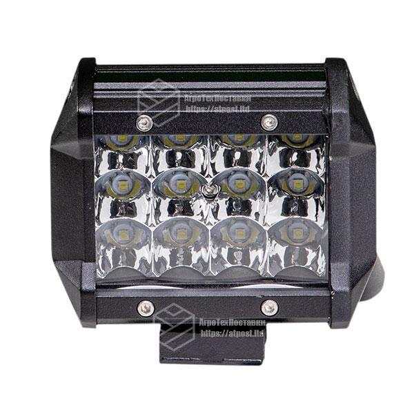 Светодиодная фара LED (ЛЕД) прямоугольная 36W (12 диодов)   VTR