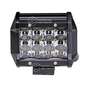 Светодиодная фара LED (ЛЕД) прямоугольная 36W (12 диодов)   VTR, фото 2
