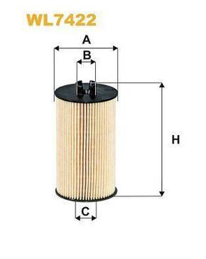 Фильтр масляный двигателя OPEL WL7422/OE648/6 | WIX-Filtron, фото 2