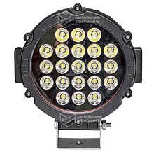 Светодиодная фара LED (ЛЕД) круглая 63W (21 лампа) black | VTR