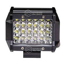 Светодиодная фара LED (ЛЕД) прямоугольная 72W (24 диода) 98 мм | VTR