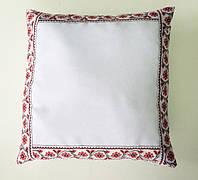"""Подушка """"Українська традиція"""" квадрат 35х35 квітка"""