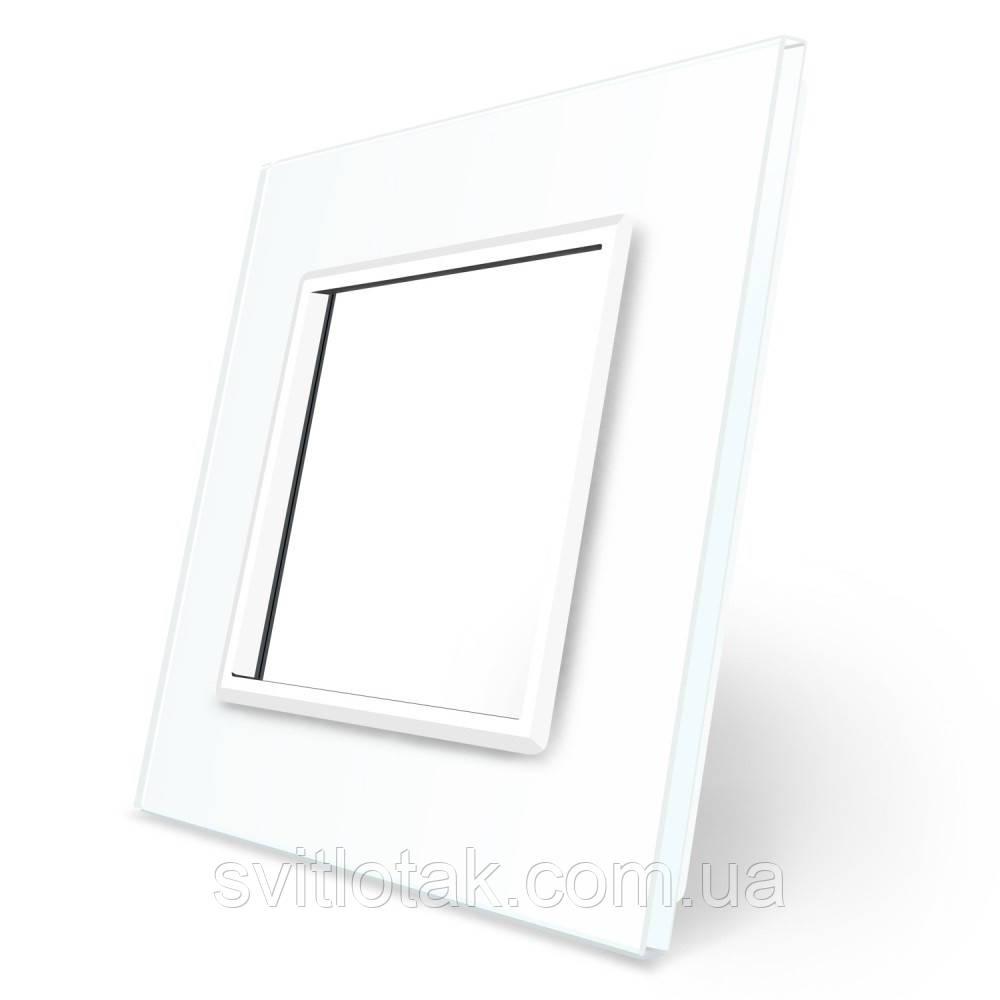 Рамка для Терморегулятор сенсорный DEVI Devireg Touch белый стекло (BB-C3-SR-11)