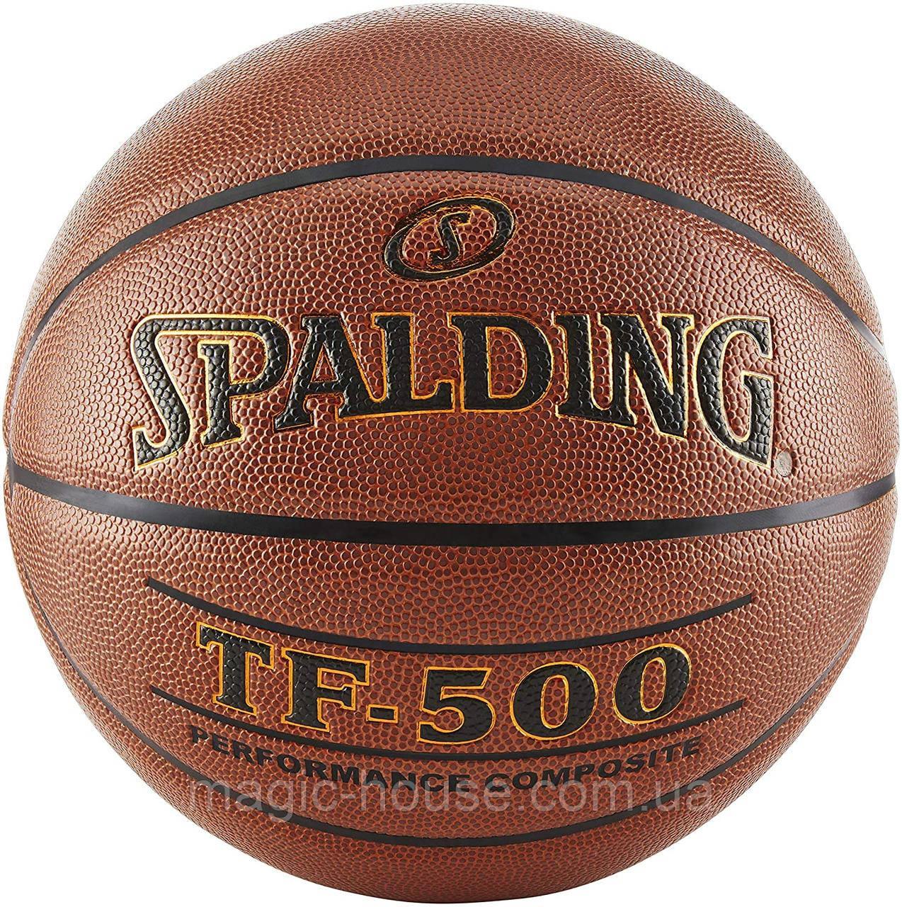 М'яч баскетбольний Spalding TF-500 Indoor/Outdoor Basketball оригінал розмір 7 композитна шкіра