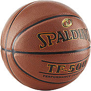 М'яч баскетбольний Spalding TF-500 Indoor/Outdoor Basketball оригінал розмір 7 композитна шкіра, фото 2