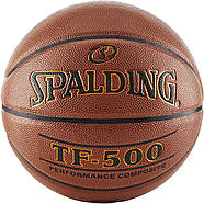 М'яч баскетбольний Spalding TF-500 Indoor/Outdoor Basketball оригінал розмір 7 композитна шкіра, фото 3