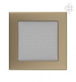 Вентиляционная решетка для камина KRATKI 17х17 см золотая гальванизированная