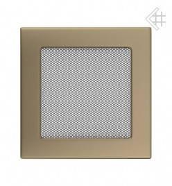 Вентиляционная решетка для камина KRATKI 17х17 см золотая гальванизированная , фото 2