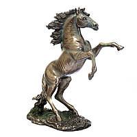 """Статуэтка """"Вздыбившийся конь"""" 27*30 см Veronese Италия (76028A4)"""
