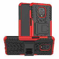 Чохол Armor для Xiaomi Redmi Note 9 Pro протиударний бампер Red