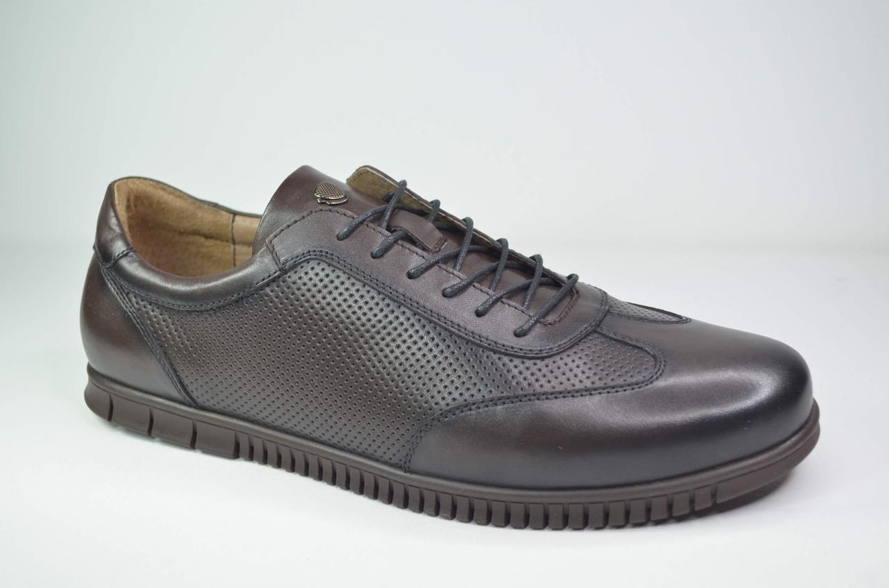 Чоловічі шкіряні туфлі коричневі Cevivo 5676