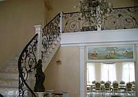 Кованые перила лестницы-05