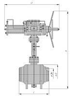 Кран шаровой подземный под приварку РN100 (80) с пневмоприводом и блоком управления БУК DN 50