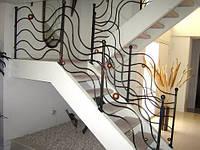 Кованые перила лестницы-06