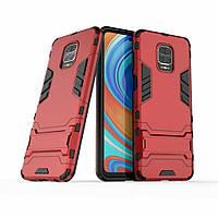 Чохол Iron для Xiaomi Redmi Note 9 Pro броньований бампер Red