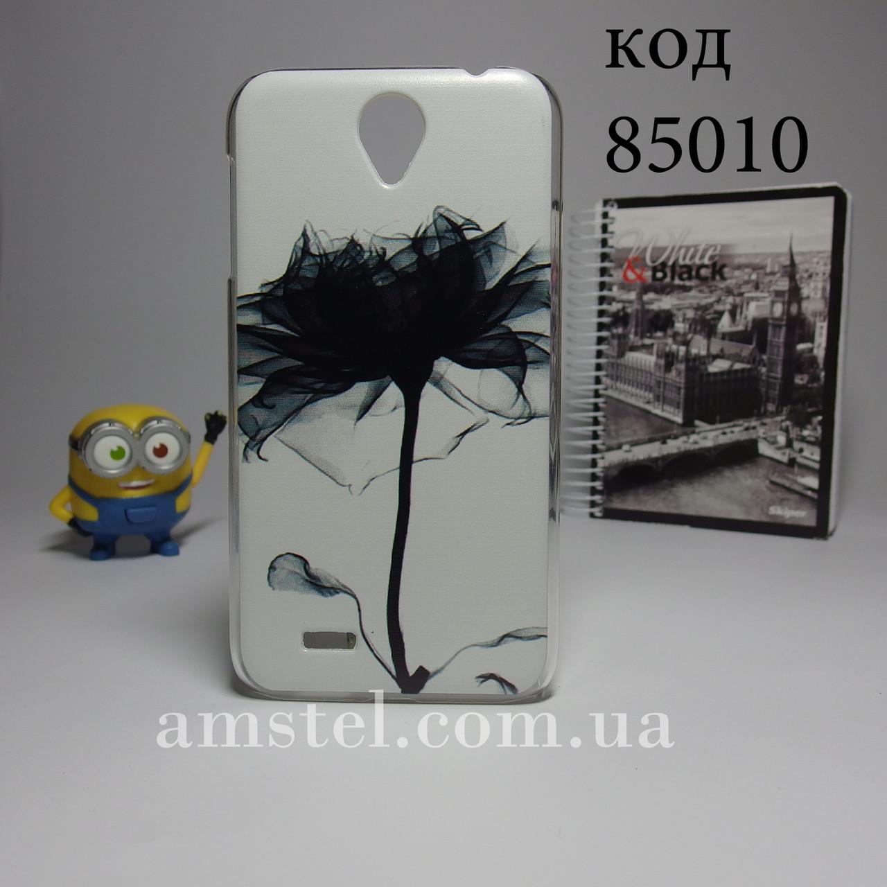Чехол для lenovo a850 панель накладка с рисунком цветок