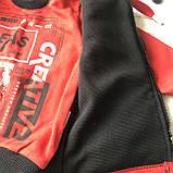 Теплый костюм тройка с жилеткой на мальчика 309. Размер  98 см, 104 см, фото 4