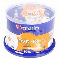 Оптические диски 50шт Verbatim DVD-R 4.7Gb Printable 43533