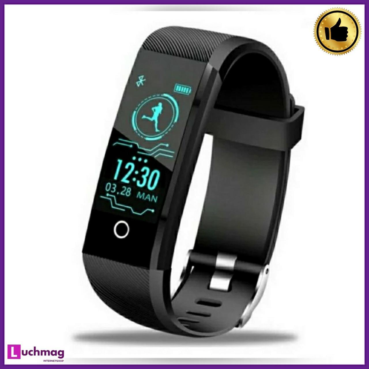 Розумні смарт годинник, фітнес браслет Smart RevolutionBand 2020 Black