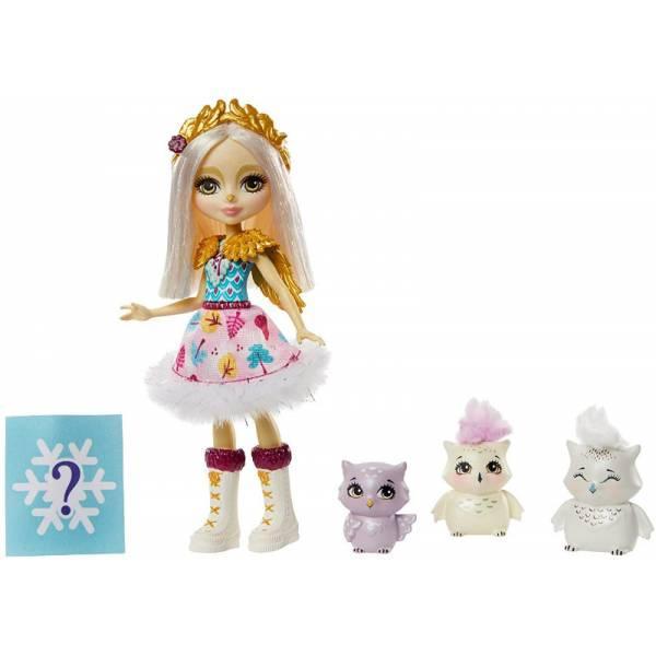 Enchantimals Семья сов с сюрпризом GJX46 Odele Owl Doll Family
