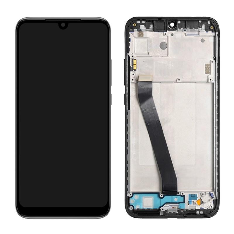 Дисплей (LCD) Xiaomi Redmi 7 с тачскрином и рамкой, чёрный