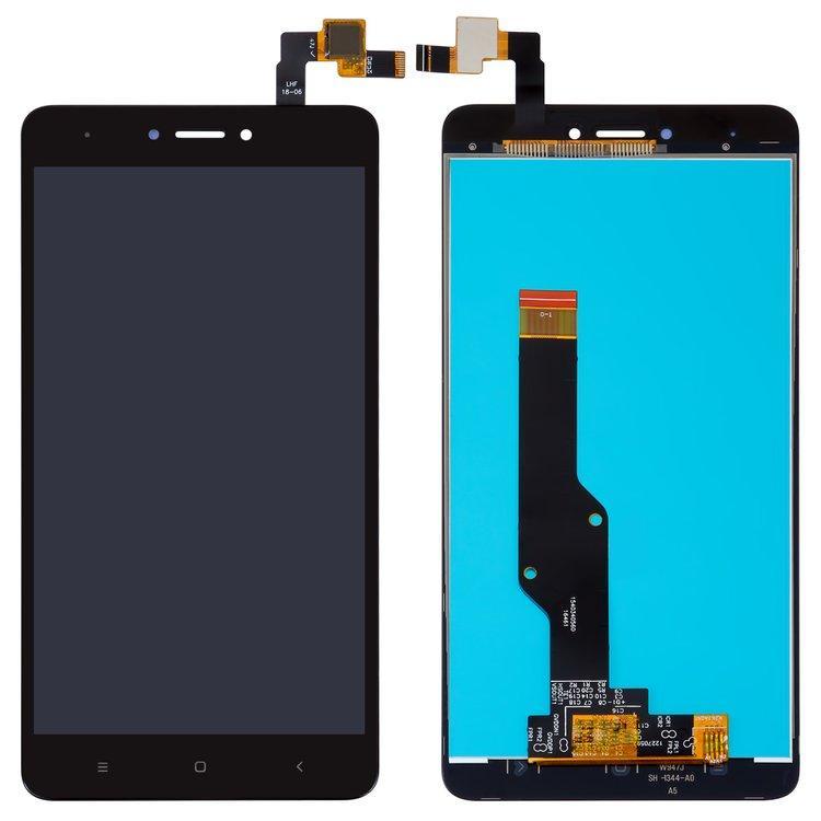 Дисплей (LCD) Xiaomi Redmi Note 4X (Snapdragon) з тачскріном, чорний, оригінал (PRC)