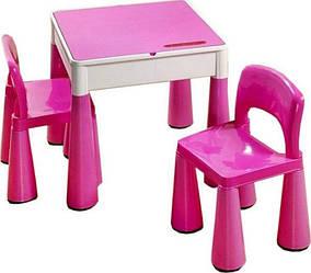 Столик с стульчиками  Tega Mamut pink