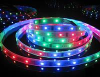 Светодиодная LED лента 5050 RGB цветная, разноцветная