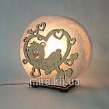 Соляной светильник круглый Мишка в сердце, фото 6