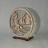Соляной светильник круглый орел и горы, фото 2
