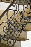 Кованые перила лестницы-13