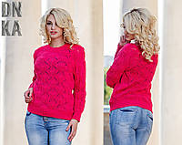 Красный женский свитерок