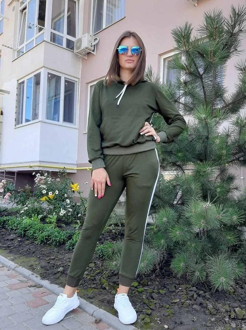 Женский спортивный костюм хаки с лампасами 50 р. BR-S 1233131417
