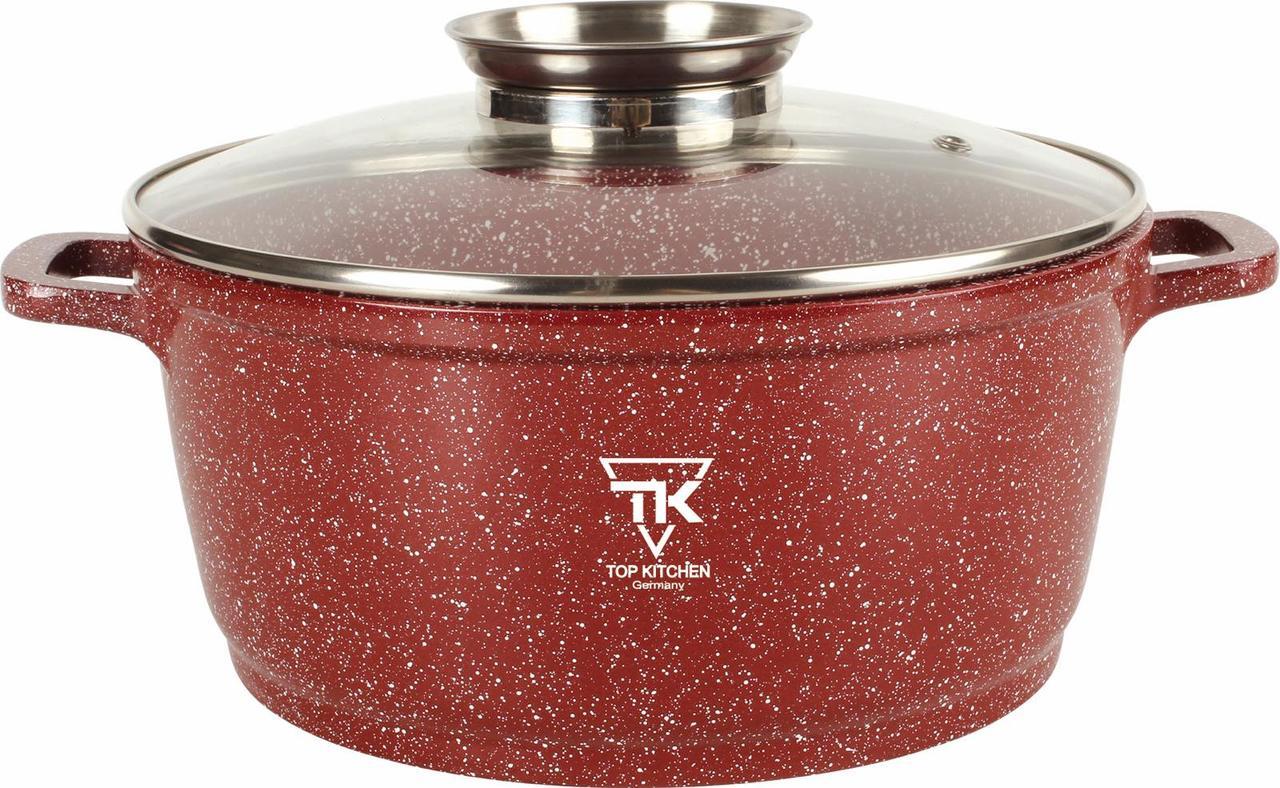 Кастрюля мраморная Top Kitchen ТК00053 28 см 2.7 л