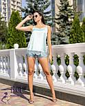 """Шовкова блуза """"Perfect"""" з мереживом, фото 3"""