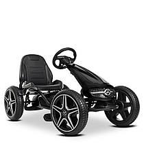 Дитяча педальная машина веломобіль Карт M 4271E-2 чорний колеса EVA резина