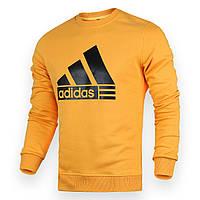 Свитшот мужской желтый ADIDAS с лого YEL L(Р) 20-412-001